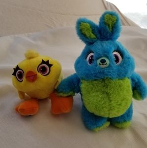 Toy Story 4 Ducky and Bunny plush